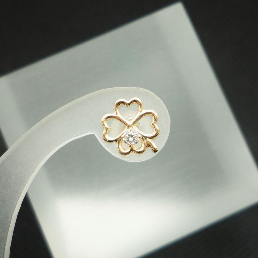 ピアス レディース 四つ葉 クローバー キュービックジルコニア (CZ) 10金 K10 jewelry-matumoto 05
