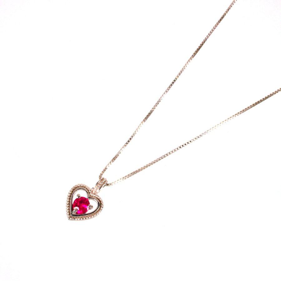 ネックレス レディース ルビー 7月 誕生石 18金ホワイトゴールド K18WG jewelry-matumoto 02