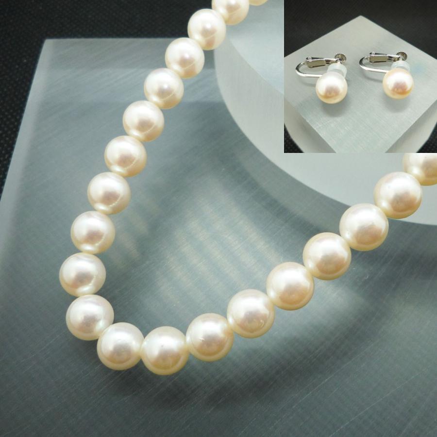 ネックレス レディース パール 真珠 フォーマル イアリング(K14WG) 連ネックレス セット|jewelry-matumoto|11
