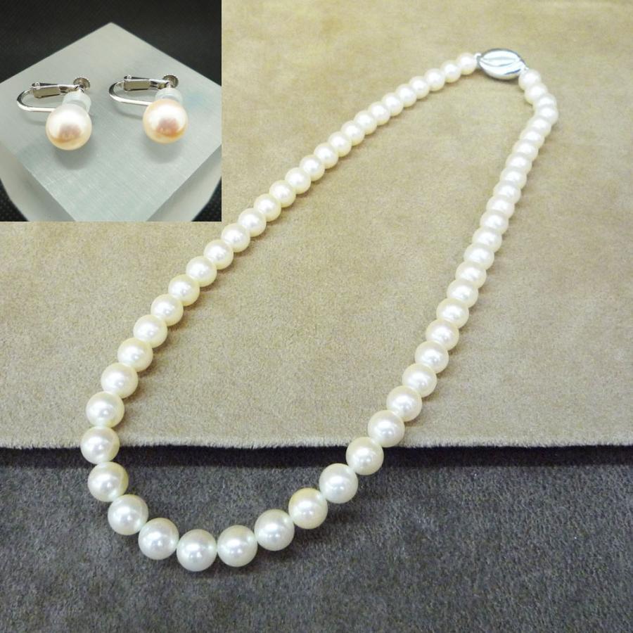 ネックレス レディース パール 真珠 フォーマル イアリング(K14WG) 連ネックレス セット|jewelry-matumoto|12