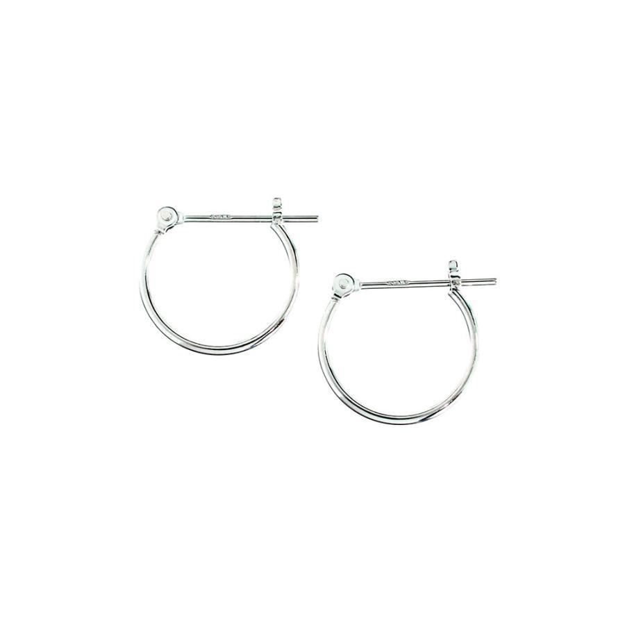 ピアス レディース 直径13.0mm 輪っか フープピアス 14金ホワイトゴールド K14WG jewelry-matumoto 02