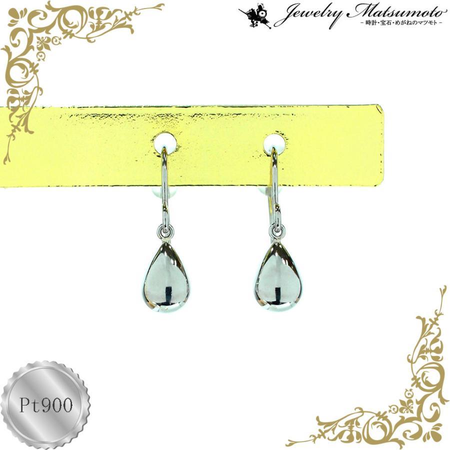 ピアス レディース 雫 ドロップ 揺れる ジプシー フック プラチナ Pt900 jewelry-matumoto