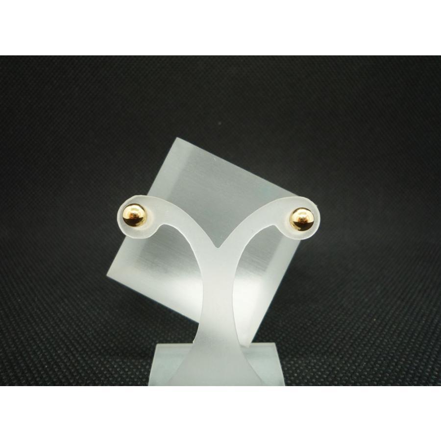 ピアス レディース メンズ 5.0mm丸玉 シンプル 18金 K18|jewelry-matumoto|02