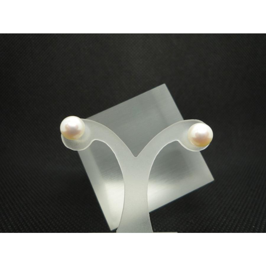 ピアス レディース パール (6.5mm) 真珠 フォーマル スタッド シンプル 14金ホワイトゴールド K14WG jewelry-matumoto 02
