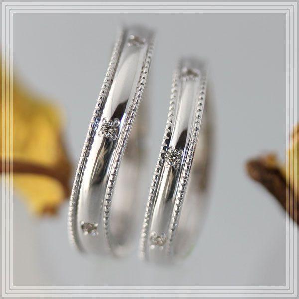 新しいブランド マリッジリング ペアリング マリッジリング 結婚指輪 K18WG ペアリング 結婚指輪 アンティークミル打ちペアリング, Dress Lab:b5a89c72 --- airmodconsu.dominiotemporario.com