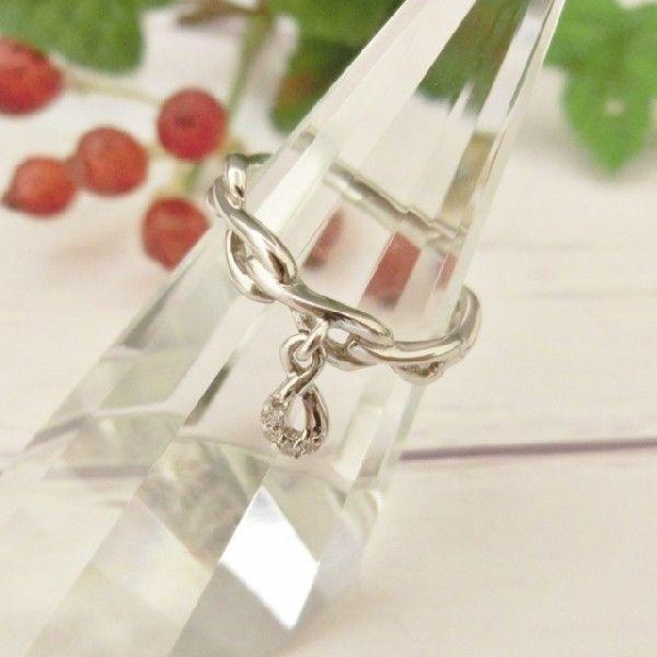 Pt900 ダイヤモンド0.02ct ピンキー リング|jewelry-watch-bene