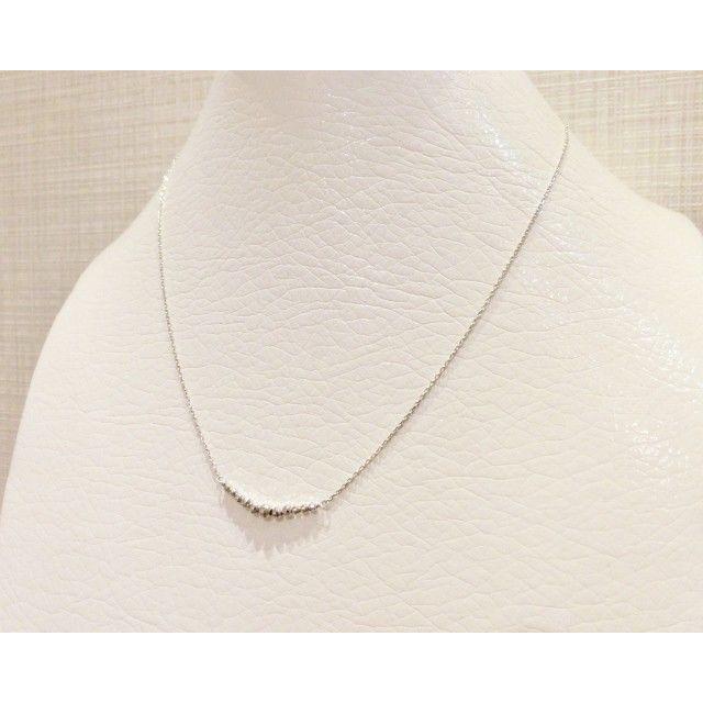 K10WG ミラーボール ラインネックレス|jewelry-watch-bene|04