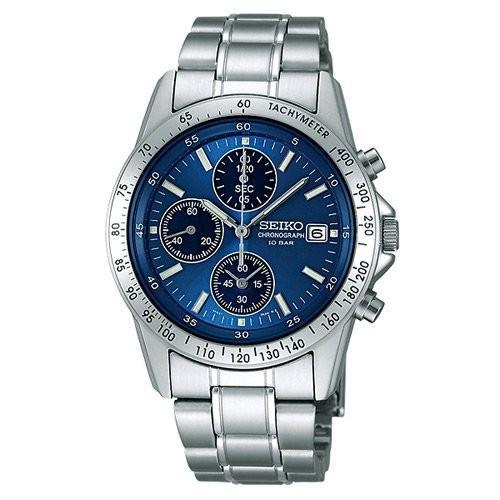 SEIKO/セイコー SPIRIT/スピリット クロノグラフ メンズウォッチ ブルー/青文字板 SBTQ071|jewelry-watch-bene