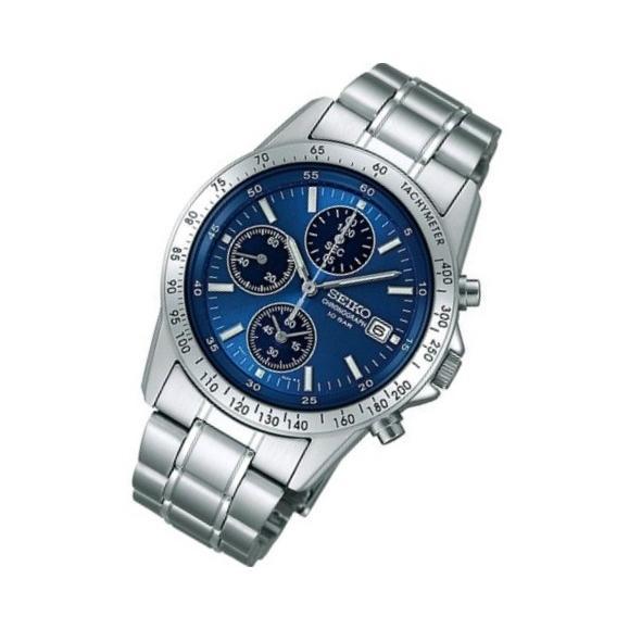 SEIKO/セイコー SPIRIT/スピリット クロノグラフ メンズウォッチ ブルー/青文字板 SBTQ071|jewelry-watch-bene|02
