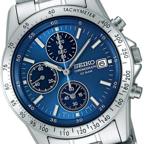 SEIKO/セイコー SPIRIT/スピリット クロノグラフ メンズウォッチ ブルー/青文字板 SBTQ071|jewelry-watch-bene|04