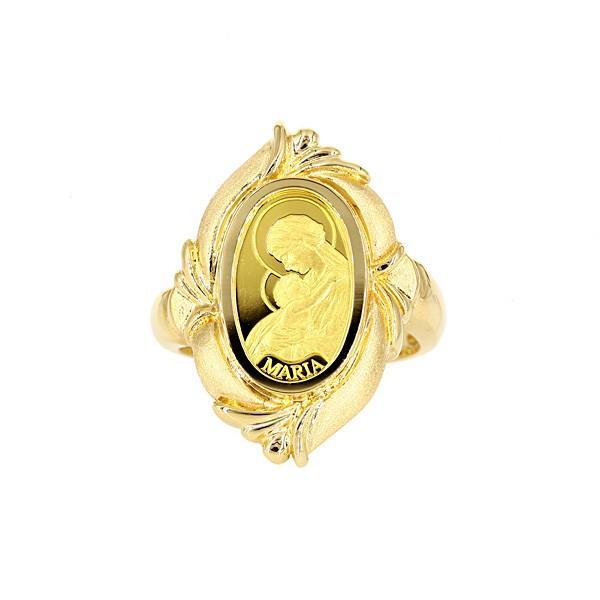 公式サイト K24 純金 ゴールド 聖母マリア像インゴット 1g K18 リング, モリタムラ 4d55180a