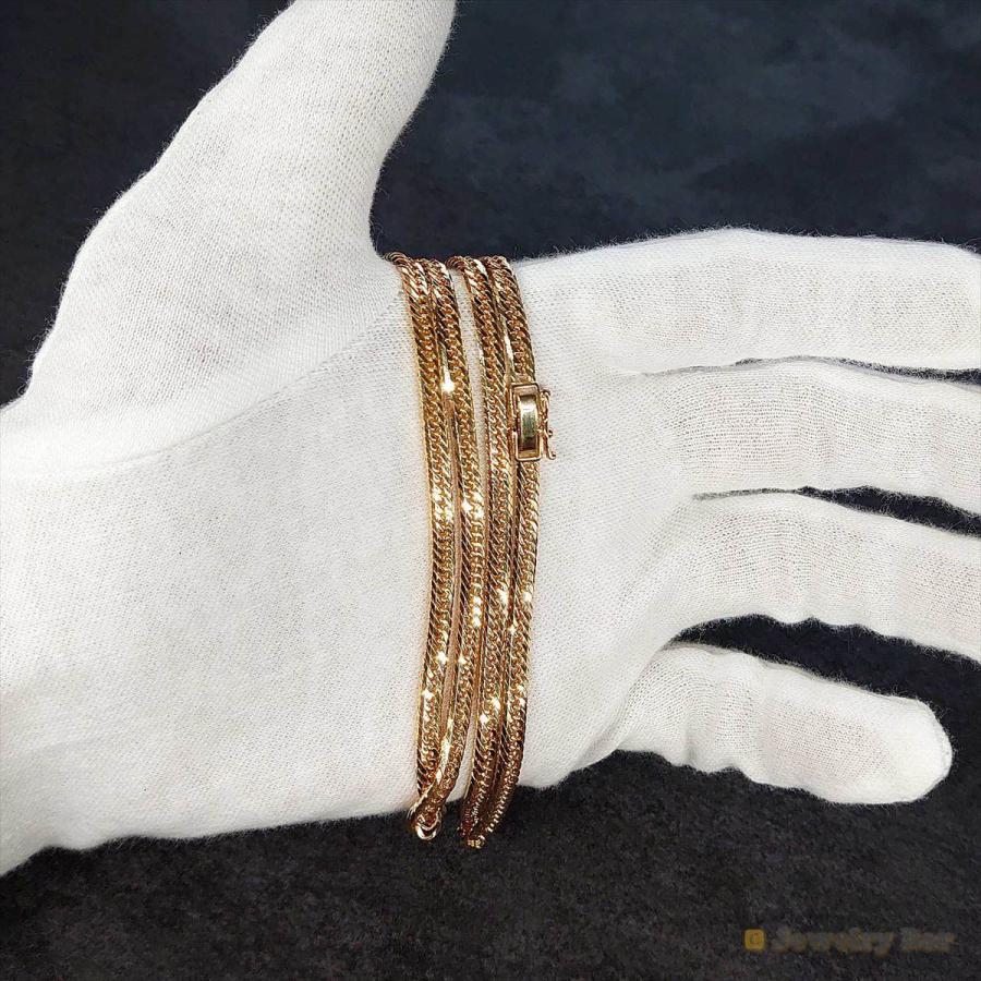 K18 喜平 ネックレス 8面トリプル 20g 50cm 造幣局検定付 ゴールド チェーン メンズ レディース 18金 jewelrybar 11