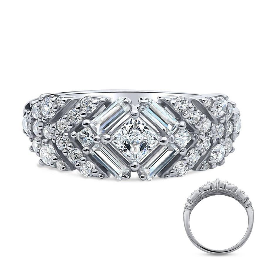 高い素材 リング 指輪 レディース ( 豪華 アールデコ クラシック キュービックジルコニア プラチナ 誕生日 プレゼント アクセサリー 女性 かわいい おしゃれ ジュエリー, ランドマーク 17ddac0e