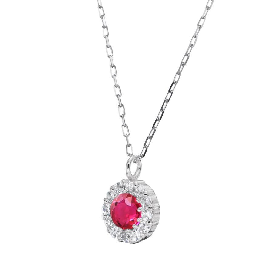 プラチナ製 ルビー+ダイヤモンド ペンダント・ネックレス 7月誕生石|jewelrycraft-aqua|11