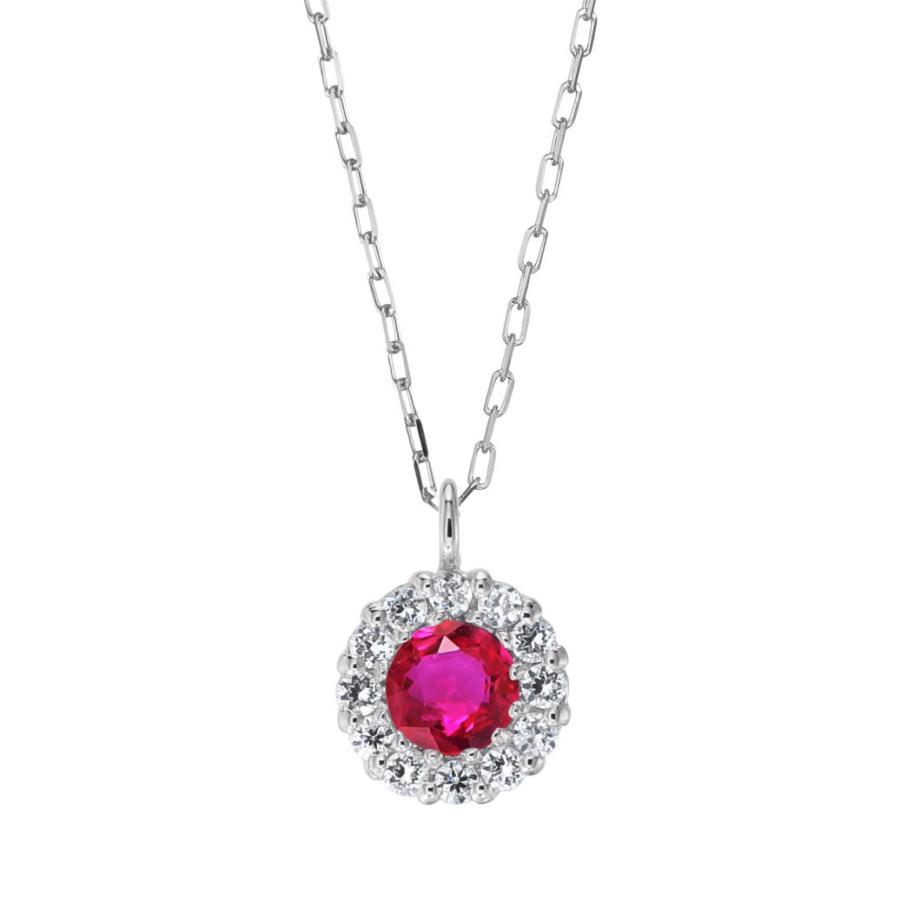 プラチナ製 ルビー+ダイヤモンド ペンダント・ネックレス 7月誕生石|jewelrycraft-aqua|08