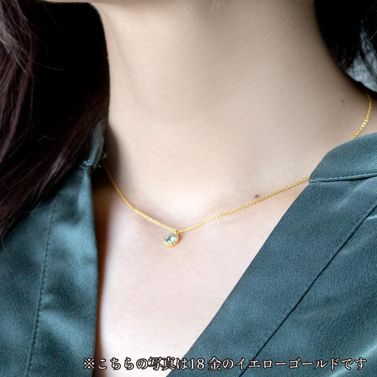 シルバー製 ルビー+ダイヤ 0.08ct ペンダント ネックレス 7月誕生石 jewelrycraft-aqua 03