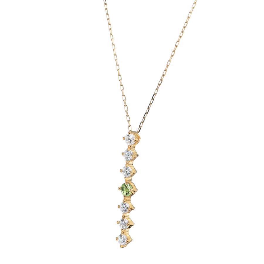 K10ゴールド【選べるゴールドカラー】 ペリドット ダイヤモンド 0.24ct ペンダント ネックレス 8月誕生石 シンプル ストレートライン|jewelrycraft-aqua|10