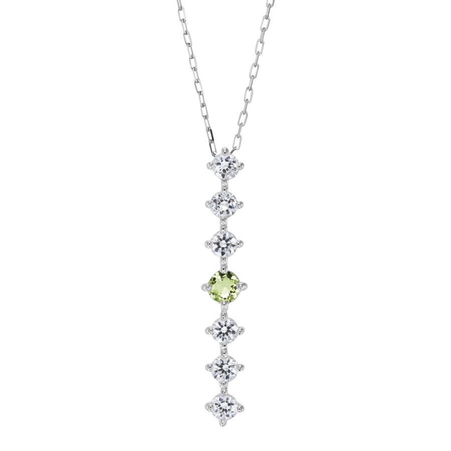 K10ゴールド【選べるゴールドカラー】 ペリドット ダイヤモンド 0.24ct ペンダント ネックレス 8月誕生石 シンプル ストレートライン|jewelrycraft-aqua|18