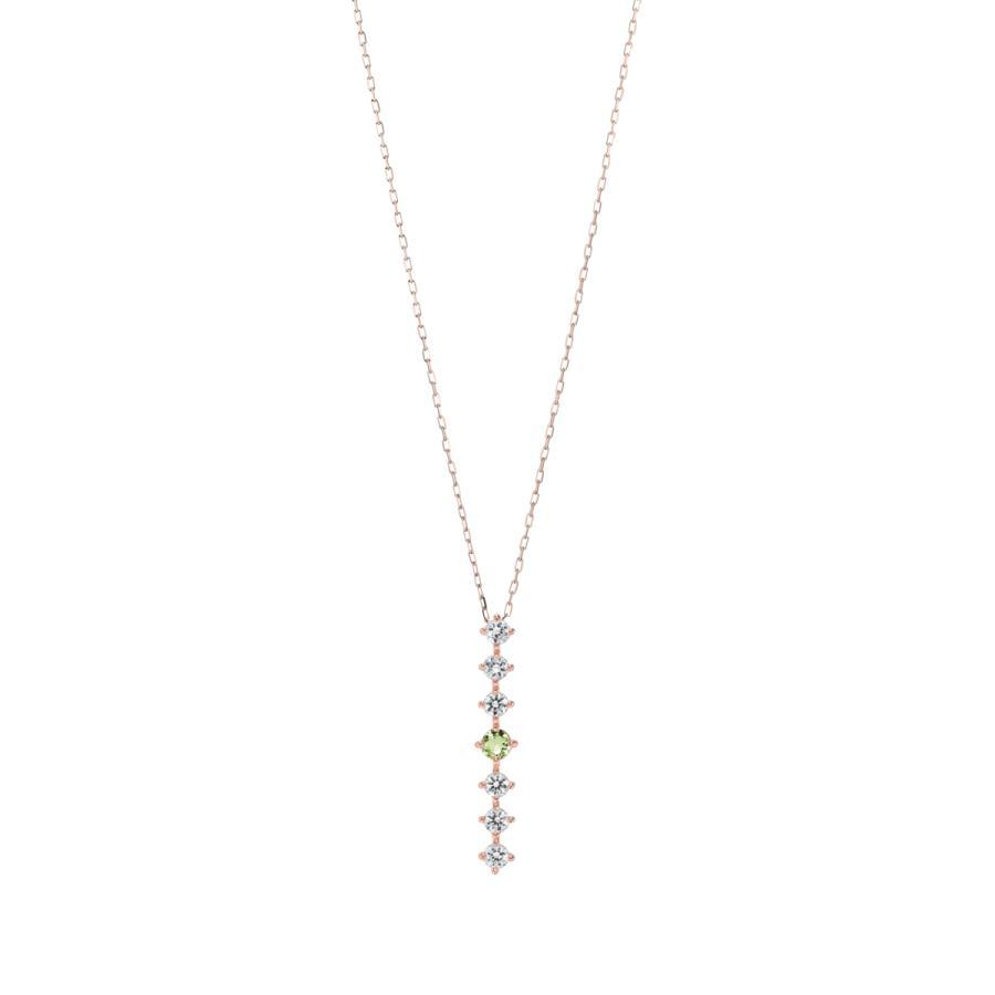 K10ゴールド【選べるゴールドカラー】 ペリドット ダイヤモンド 0.24ct ペンダント ネックレス 8月誕生石 シンプル ストレートライン|jewelrycraft-aqua|15