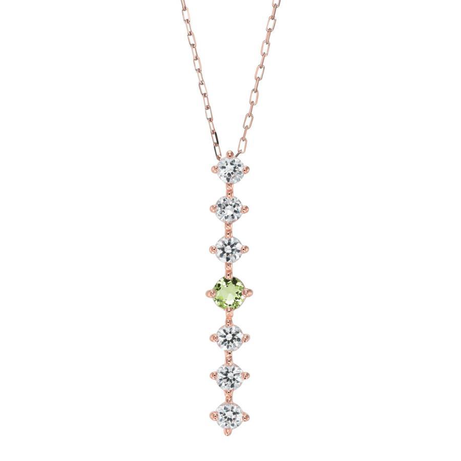 K10ゴールド【選べるゴールドカラー】 ペリドット ダイヤモンド 0.24ct ペンダント ネックレス 8月誕生石 シンプル ストレートライン|jewelrycraft-aqua|19
