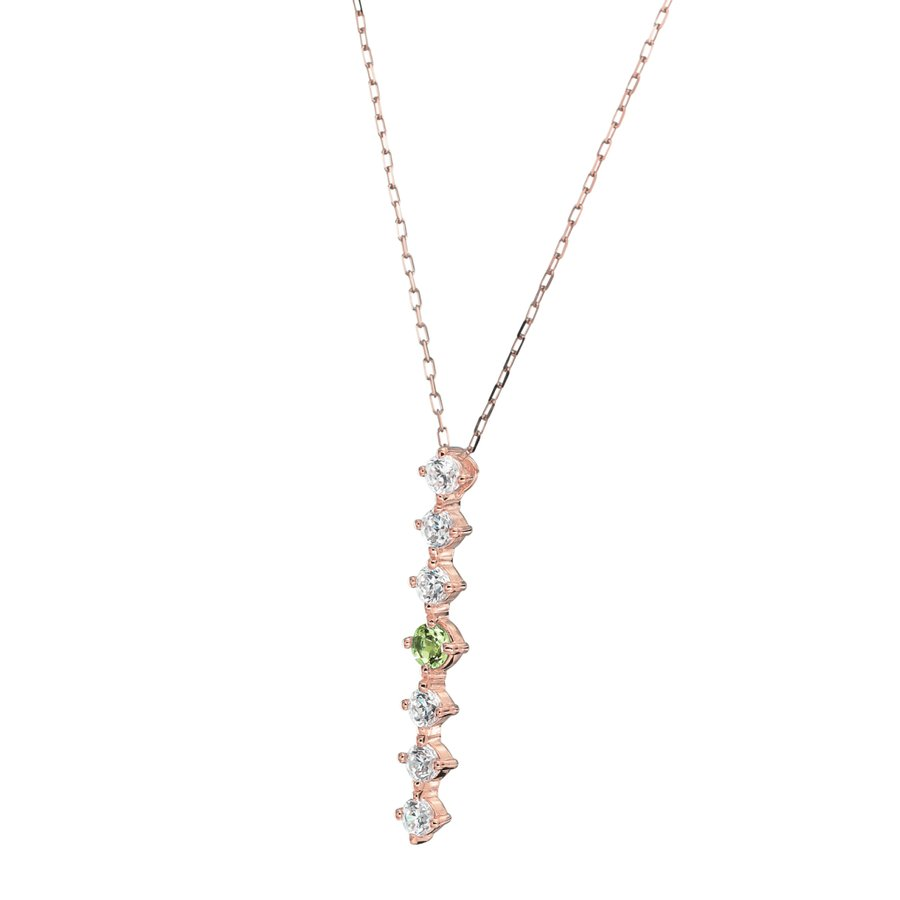 K10ゴールド【選べるゴールドカラー】 ペリドット ダイヤモンド 0.24ct ペンダント ネックレス 8月誕生石 シンプル ストレートライン|jewelrycraft-aqua|16