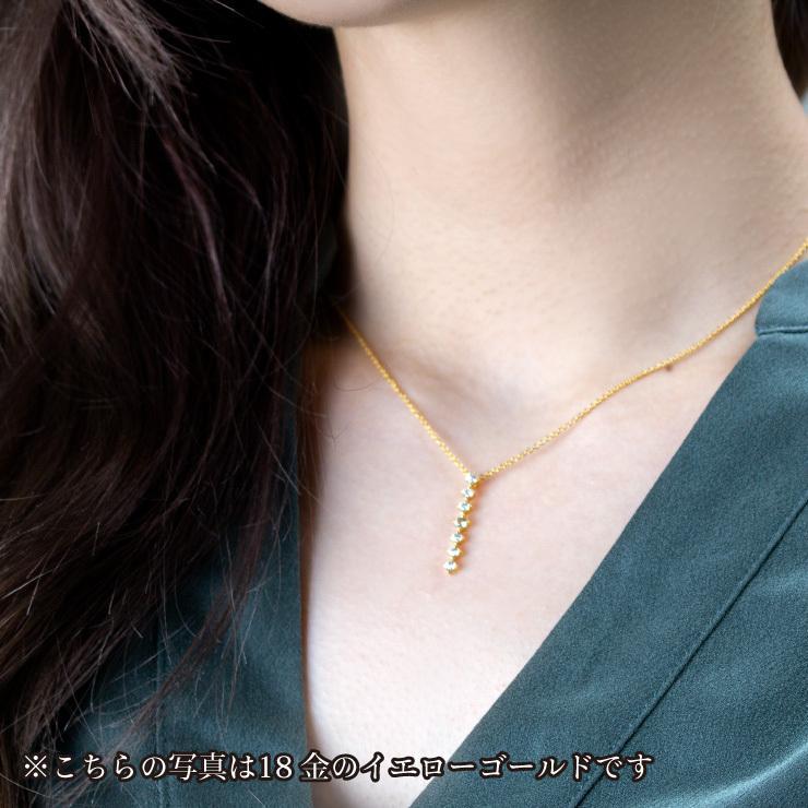 K10ゴールド【選べるゴールドカラー】 ペリドット ダイヤモンド 0.24ct ペンダント ネックレス 8月誕生石 シンプル ストレートライン|jewelrycraft-aqua|03