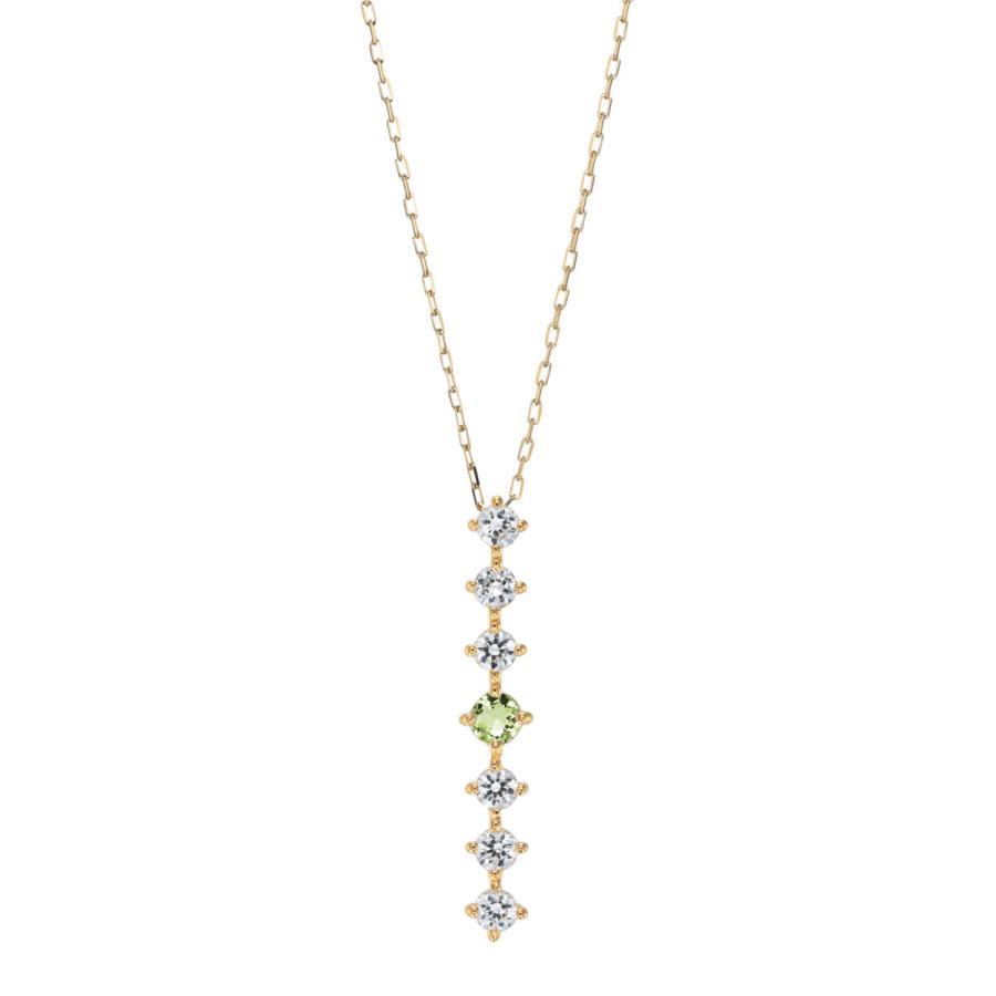 K10ゴールド【選べるゴールドカラー】 ペリドット ダイヤモンド 0.24ct ペンダント ネックレス 8月誕生石 シンプル ストレートライン|jewelrycraft-aqua|08