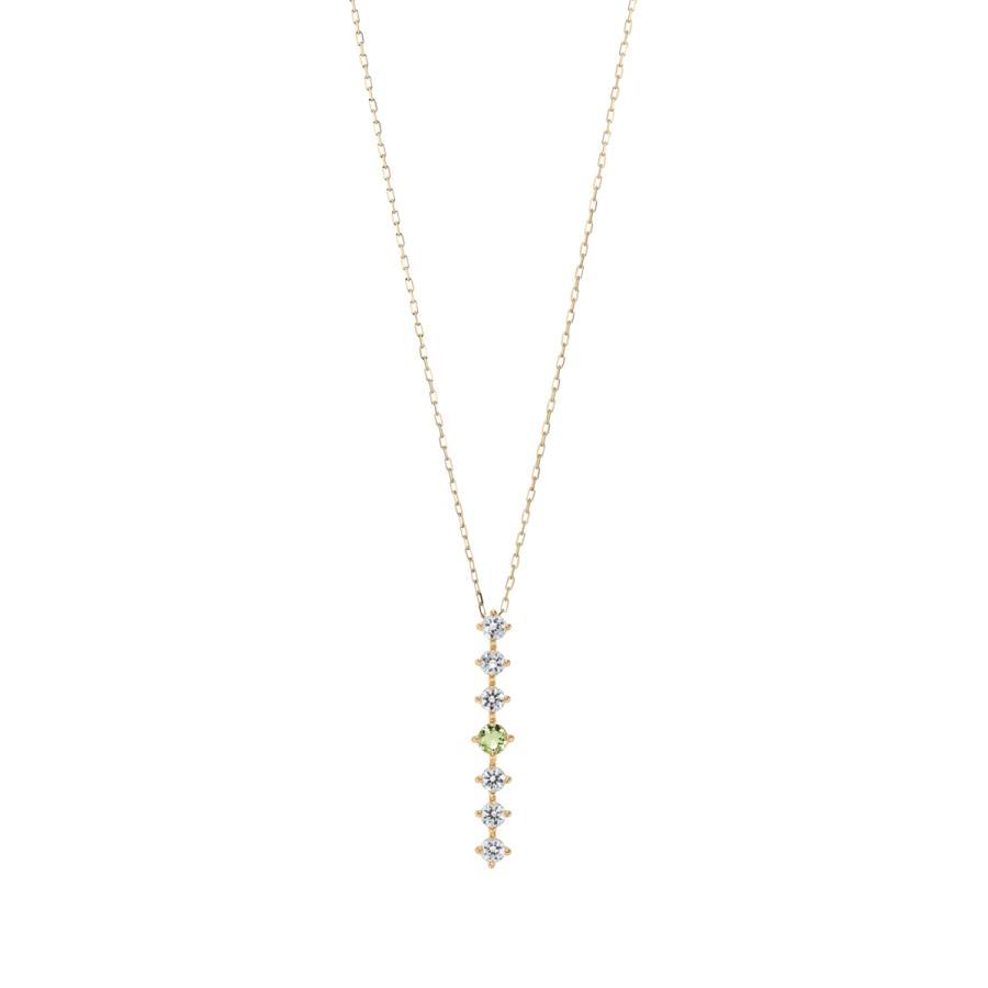 K10ゴールド【選べるゴールドカラー】 ペリドット ダイヤモンド 0.24ct ペンダント ネックレス 8月誕生石 シンプル ストレートライン|jewelrycraft-aqua|09