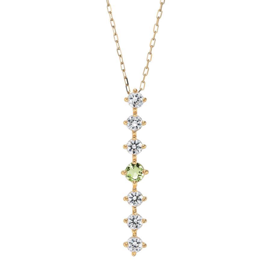 K10ゴールド【選べるゴールドカラー】 ペリドット ダイヤモンド 0.24ct ペンダント ネックレス 8月誕生石 シンプル ストレートライン|jewelrycraft-aqua|17