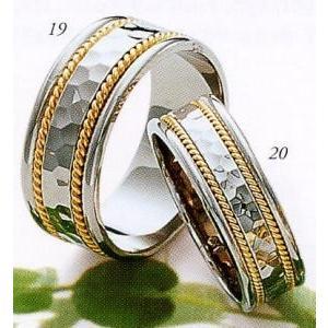 超可爱 (19) 17K52-2 &(20) 17F52-2 Tresoro トレソロ マリッジリング 結婚指輪 ペアリング用 (2本), Takeo-shop 113635cf