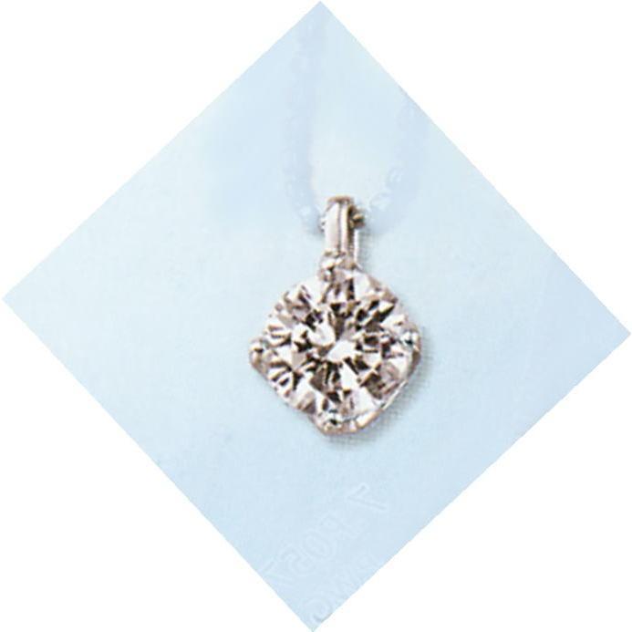 スペシャルオファ 0.5ct. F-VVS1-3EX (H&C) PT プラチナ ダイヤモンド ペンダント ネックレス 鑑定書付 4本爪留 (ひし形に見える) (P0573N), 特売 f46019c5
