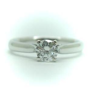 【限定特価】 0.25ct. E-VVS1-3EX (H&C) PT900 プラチナ 婚約指輪 エンゲージリング ダイヤモンドリング 4本爪 鑑定書付, かぐ屋 f70b8b9e