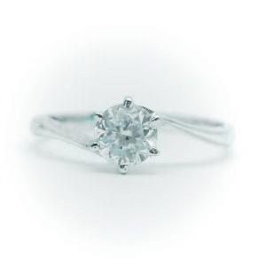 超高品質で人気の 0.25ct. E-VVS2-3EX (H&C) PT900 プラチナ 婚約指輪 エンゲージリング ダイヤモンドリン S字タイプグ 鑑定書付, サガシ bc3aa597