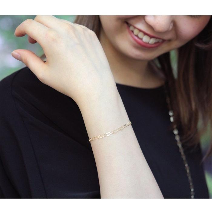 ブレスレット 10金 10k k10 レディース 猫 ネコ ねこ ゴールド チェーン イエローゴールド 華奢 シンプル|jewelryprecious|03