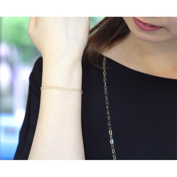 ブレスレット 10金 10k k10 レディース 猫 ネコ ねこ ゴールド チェーン イエローゴールド 華奢 シンプル|jewelryprecious|07