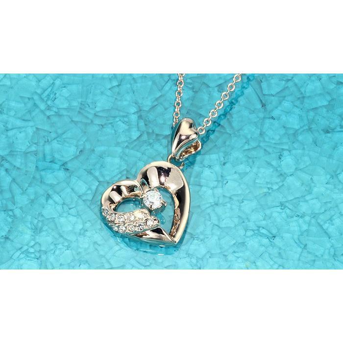 ネックレス レディース ハートスワロフスキー 可愛い プレゼント 金属アレルギー対応 jewelrysanmi 11