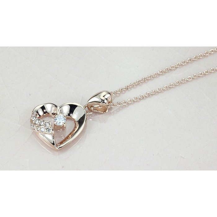 ネックレス レディース ハートスワロフスキー 可愛い プレゼント 金属アレルギー対応 jewelrysanmi 12