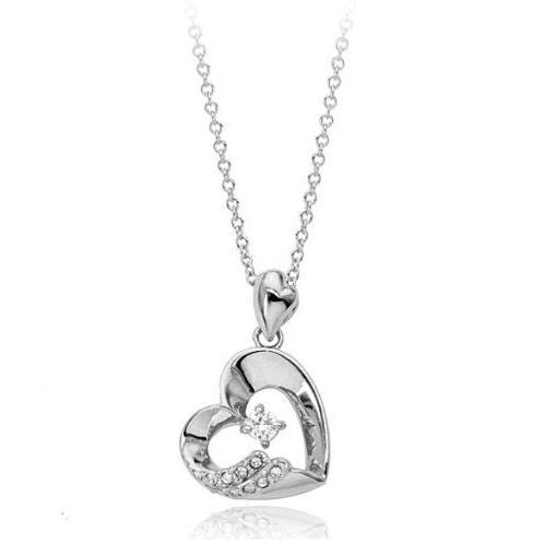 ネックレス レディース ハートスワロフスキー 可愛い プレゼント 金属アレルギー対応 jewelrysanmi 05