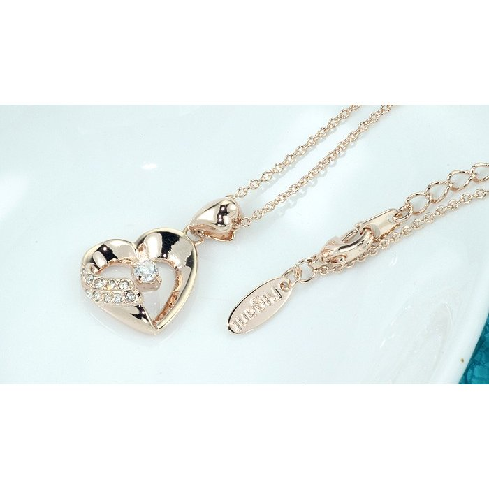 ネックレス レディース ハートスワロフスキー 可愛い プレゼント 金属アレルギー対応 jewelrysanmi 09