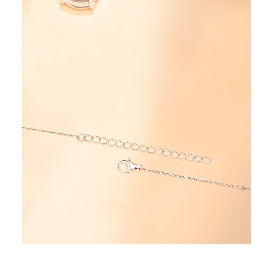 ネックレス レディース スワロフスキー シンプル 一粒 本物 万能 シルバーS925 金属アレルギー対応 jewelrysanmi 12