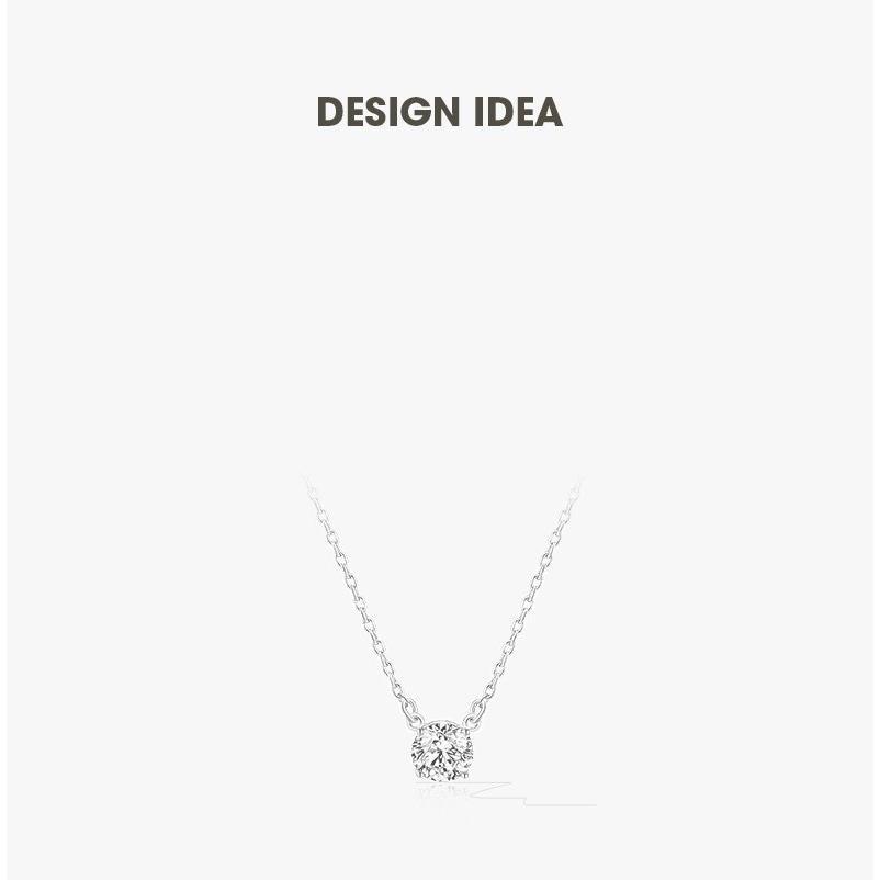 ネックレス レディース スワロフスキー シンプル 一粒 本物 万能 シルバーS925 金属アレルギー対応 jewelrysanmi 14