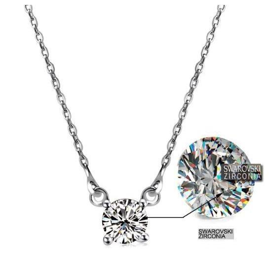 ネックレス レディース スワロフスキー シンプル 一粒 本物 万能 シルバーS925 金属アレルギー対応 jewelrysanmi 19