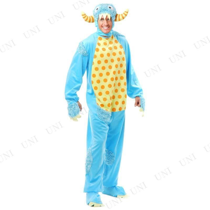 ミニモンスター ブルー XL コスプレ 衣装 ハロウィン 仮装 余興 コスチューム 大人用