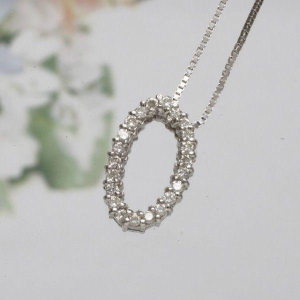 安いそれに目立つ O ダイヤモンド イニシャル ペンダント ネックレス K18WG ホワイトゴールド 93194O **, ガーデン用品屋さん 1a387617