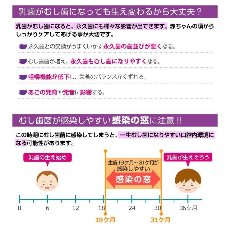 L8020乳酸菌 ジェクス CB L8020乳酸菌使用 指ハブラシ付 歯みがきタイムジェル 8g ぶどう風味 [6ヶ月頃〜] 日本製|jex|06