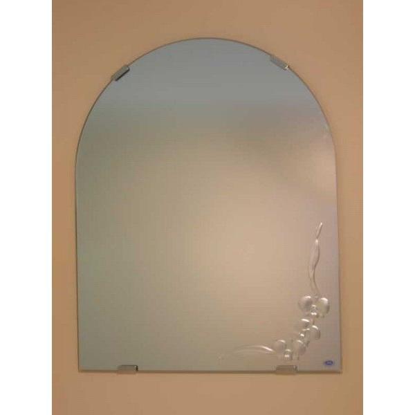 洗面鏡 化粧鏡 JHAデザインミラー JHAデザインミラー カトレア 半円W400×H500 ビス用 玄関 洗面 トイレ オシャレ 店舗