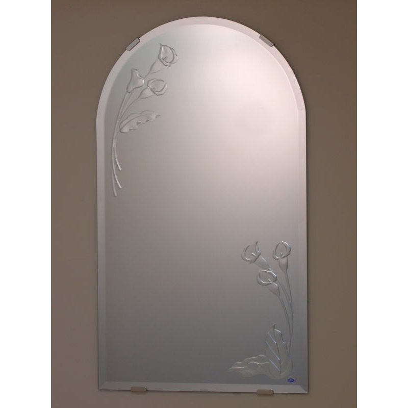洗面鏡 化粧鏡 JHAデザインミラー カラー3 半円W400×H700 ビス用 玄関 洗面 洗面 トイレ オシャレ 店舗