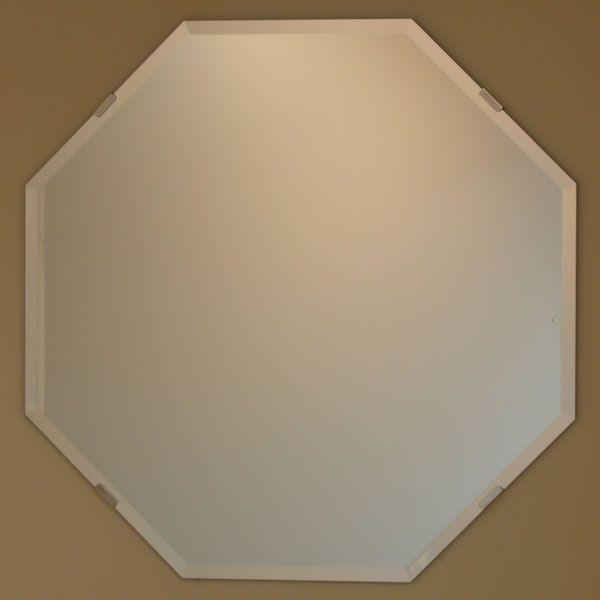 八角鏡 JHAインテリアミラー (デラックス) 柄なし 八角形 ビス用 W600×H600(面取り:15ミリ幅)(風呂場は不可) W600×H600(面取り:15ミリ幅)(風呂場は不可) 玄関 洗面 トイレ オシャレ 店舗