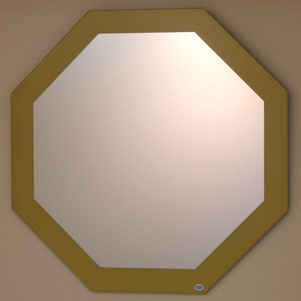 八角鏡 壁掛け鏡 ウォールミラー JHA 風水開運ミラー ゴールド 八角形W600×H600 八角形W600×H600 八角形W600×H600 飛散防止・壁掛け用 玄関 洗面 トイレ オシャレ 店舗 093