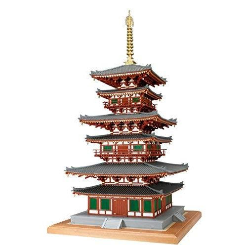 ウッディジョー 1/75 薬師寺 西塔 木製模型 組み立てキット